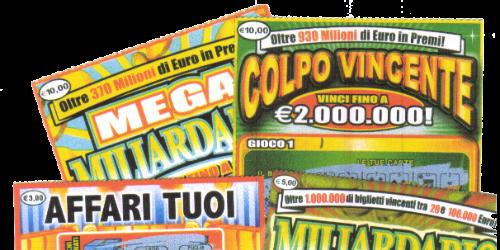 Biglietti lotterie istantanee